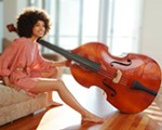 Esperanza Spalding, Grammy-winning bassist, plays at the Lionel Hampton Jazz Festival in Moscow this year.
