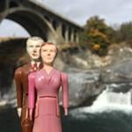 Below the Monroe Street Bridge