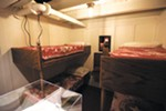 A replica third-class cabin is part of <i>Titanic: The Artifact Exhibition</i>.