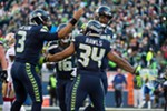 Russell Wilson, Thomas Rawls and the rest of the Seahawks hope to have something to celebrate tonight in their only Monday Night Football appearance when they host the Falcons, who knocked them out of last season's NFC playoffs.