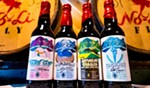 Stop by No-Li's taproom to purchase bottles of its limited-release, Winter Olympics-themed beers.