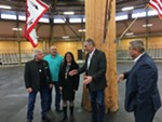 U.S. Secretary of the Interior Ryan Zinke speaks with leaders of the Spokane Tribal Business Council Thursday, March 22.
