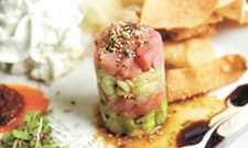 Tall Order: 1898 Public House's Tyler Schwenk uses an unusual technique to plate his ahi poke tuna