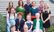 In Lake City Playhouse's <i>Cheaper By The Dozen</i>, two local siblings tackle four roles in the family-centered musical