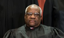 Thomas breaks a three-year silence at Supreme Court