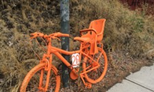 "Orange bikes on South Hill not ""ghost bikes,"" they were advertisements"