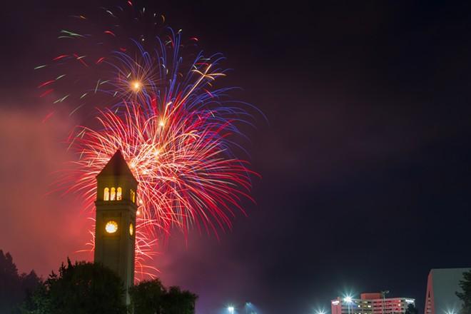 Fourth of July celebration in Riverfront Park