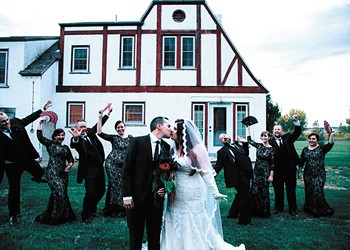 An after-hours visit to a haunted mansion in Montana was just the beginning of their romance