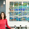 Melissa Cole takes a blowtorch to her latest artwork, showcased at Marmot in March