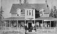 MUSEUM OF NORTH IDAHO - Pictured is what is now called the NIC Fort Sherman Officers' Quarters located on NIC's main campus. This photo, taken in 1887, is one of the items that will be on display at NIC's Molstead Library Oct. 9-29.