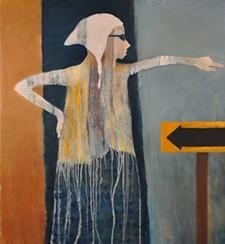 "MEL MCCUDDIN - ""Conflicting Instructions,"" 2015 - oil on canvas"