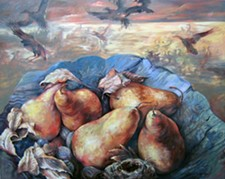 KAY O'ROURKE - Pears of Fall; oil on canvas