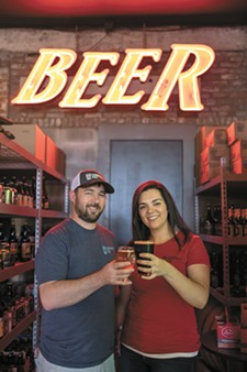 HECTOR ALZION - Local couple TJ and Sarah Wallin opened Community Pint in early August 2017.