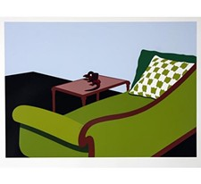 "Kenneth Price (American, 1935-2012), ""Lizard Cup,"" 1971; screenprint and stencil on paper. Jundt Art Museum, Gonzaga University; Bolker Collection: Gift of Norman & Esther Bolker (1995)."