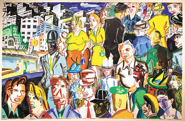 Urban Composition with 32 Figures (1996) by Patrick Siler.