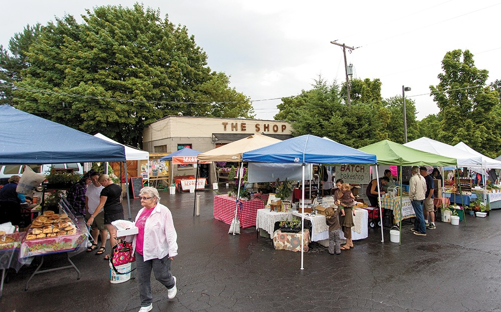 Vendors at the super popular South Perry market on Thursday afternoons. - MATT WEIGAND