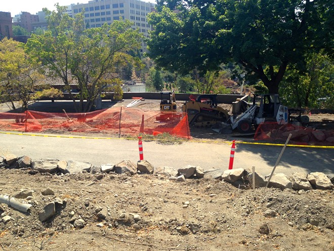 Veteran's Court area construction is scheduled to continue through Sept. 5. - FRANNY WRIGHT