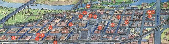 Visual Arts Tour map circa 2001 - IVAN MUNK