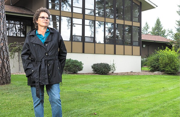 Volunteer ombudsman Tamela Carlson leaves the SNAP offices in north Spokane on her rounds to check in on those who might have trouble speaking up for themselves. - STEPHEN SCHLANGE