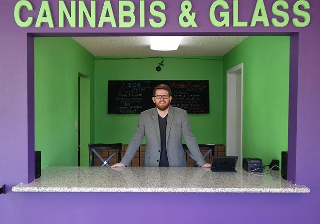 Cannabis & Glass owner Tate Kapple - PHOTO COURTESY OF CANNABIS & GLASS