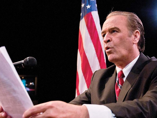 Wes Deitrick as Nixon. - AMY HUNTER