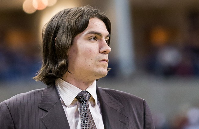 With his pro career behind him, Adam Morrison joined the Gonzaga coaching staff this fall as a student assistant. - STEPHEN SCHLANGE