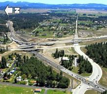 Work in progress on the North Spokane Corridor - WSDOT PHOTO