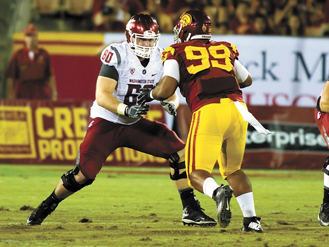 WSU center Elliott Bosch, a Ferris High school grad, plays in his final game as a Cougar this weekend. - JIM SIMPKINS