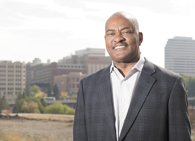 "WSU President Elson Floyd says a locally controlled medical school is what's best for Spokane and his university. ""It was clear that the University of Washington was not committed, from my perspective,"" Floyd says. ""That's the reason we engaged in the feasibility study. We just had to continue to move forward."" - YOUNG KWAK"