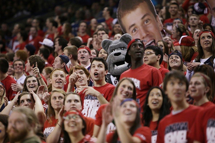 Gonzaga's student section cheers during a game early in the season. - YOUNG KWAK