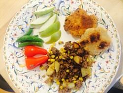 A kids' dinner plate