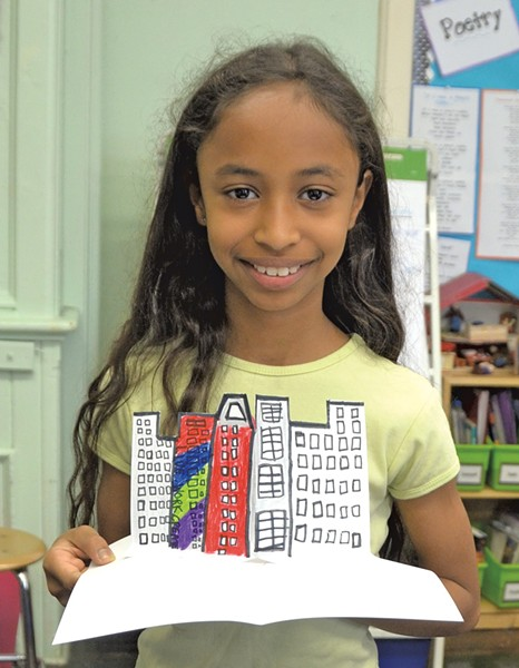 A Think 3D! student in Brooklyn, New York - COURTESY OF THINK 3D!