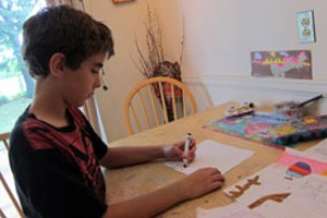Bryan Ford, drawing at home.