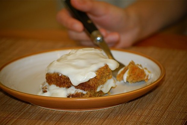 Carrot cake with cream-cheese icing - PHOTO BY CAROLYN FOX