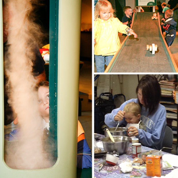 """""""Cool Moves"""" exhibit and """"My Child and Me"""" cooking class - PHOTOS COURTESY OF ALISON NOVAK AND ECHO"""
