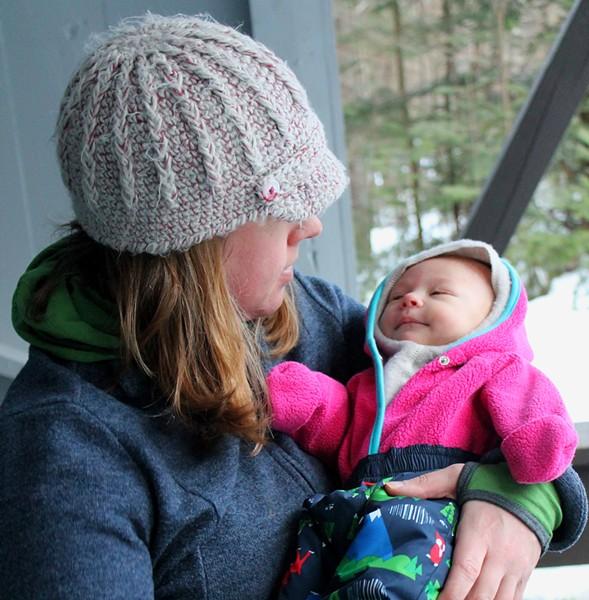 Galbraith and baby Elise - TRISTAN VON DUNTZ