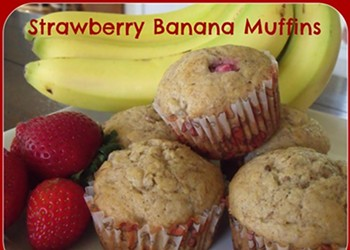 Home Cookin': Strawberry-Banana Muffins