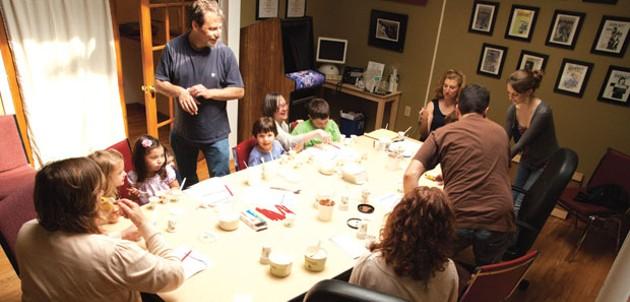 Ice cream tasting in the Seven Days/Kids VT solarium