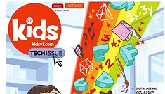 Interactive Print: A Tour of Kids VT's Tech Issue Cover