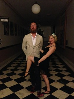 Intrepid daters: Angela and her husband, Ryan