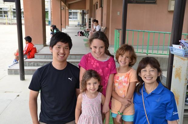 Jessica's daughters at a public school in Kyoto - JESSICA LARA TICKTIN