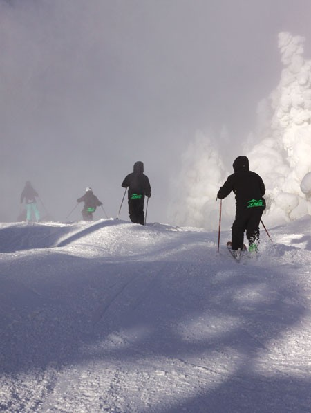 Killington Mountain Mogul Team in November at Killington