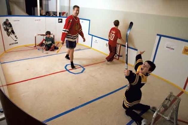 Knee Hockey Rink Habitat Kids Vt Small People Big