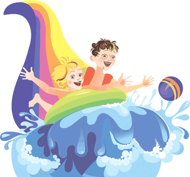 Inflatable Slide Clip Art: Kids VT - Small People