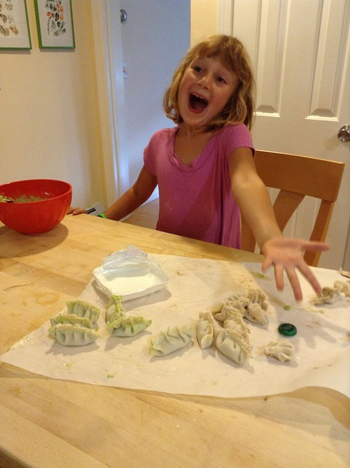Mira Novak makes dumplings