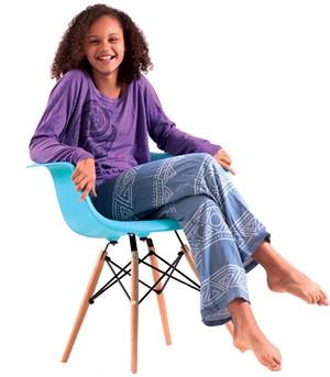 On Parrish: New Duds paisley women's sweatshirt, $32. Vintage Havana drawstring pants, $42 at Little Citizen.