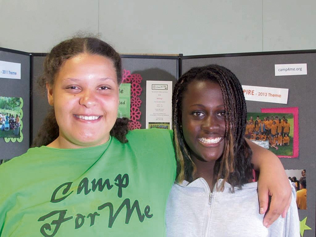 Rachel Mayer and fellow - camper Kaia Garland - COURTESY OF JUDY MAYER