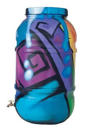 Rain barrel designed by Arts Riot