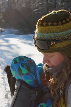 Sarah with baby Elise. - TRISTAN VON DUNTZ