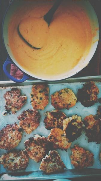 Soup & fritters - ERINN SIMON